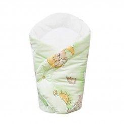 Rożek dla noworodka zielone misie na drabince.