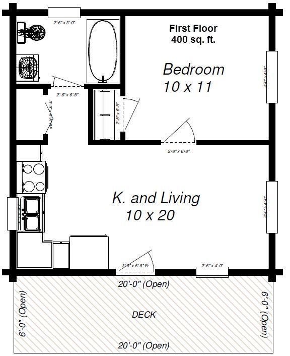 Maverick 400 Sq Feet Make A Loft For The Kids In 2019 Cabin Floor Plans One Bedroom House