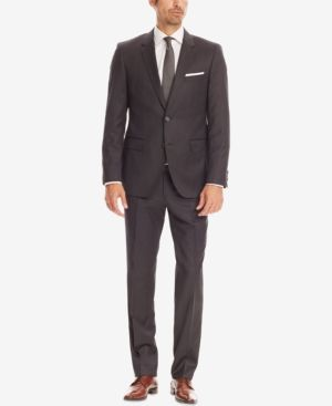 Boss Regular-Fit Super 100 Virgin Wool Suit - Gray 36R