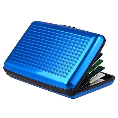 Unisex Metallo Formale / Sport / Casual / All'aperto / Ufficio e lavoro / Uso professionale / Shopping Porta carte di creditoViola / Blu - EUR € 2.93