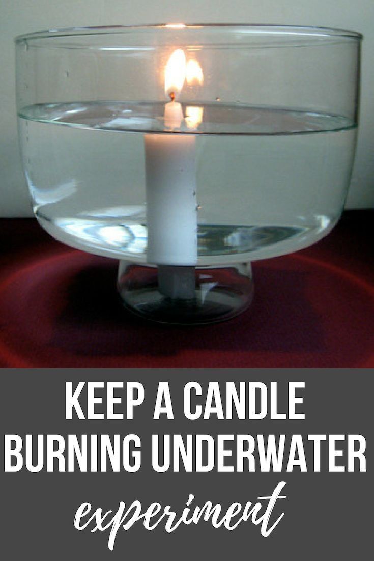 Keep A Candle Burning Underwater Science Projects For Kids