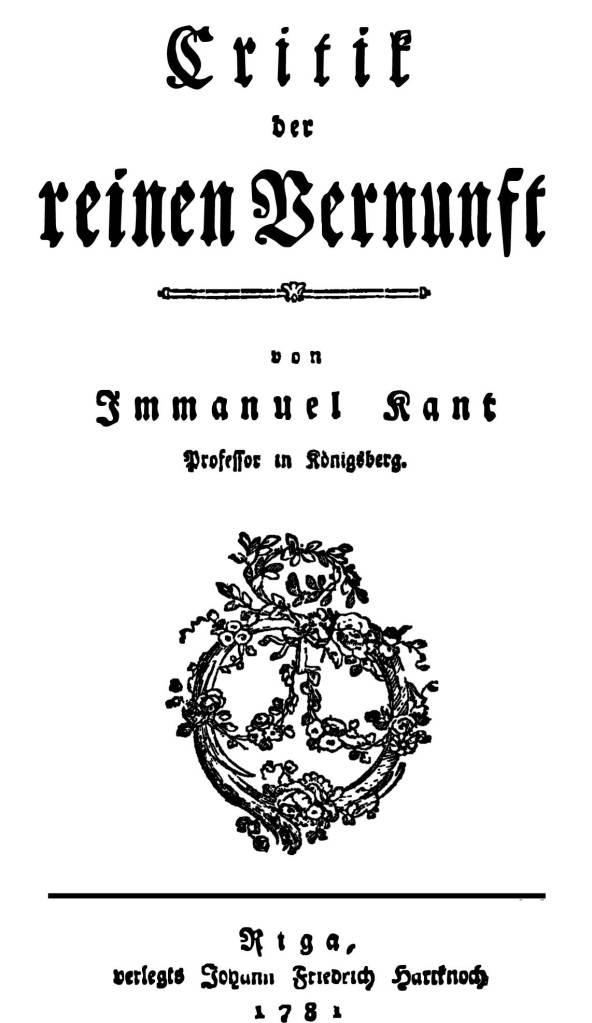 TRANSFERS :: Kant's Kritik der reinen Vernunft / Critique of Pure Reason b image.