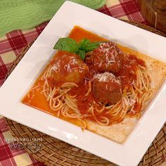 Patsy's NYC Spaghetti and Veal Meatballs