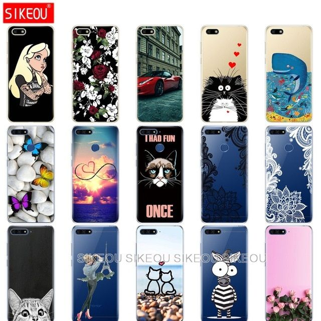 Silicone Case For Huawei Honor 7a Pro Case Huawei Y6 2018 Prime Cover Huawei Y5 2018 Prime Y9 Phone Back Cover Soft Tpu Bumper Review Silicon Case Case Huawei