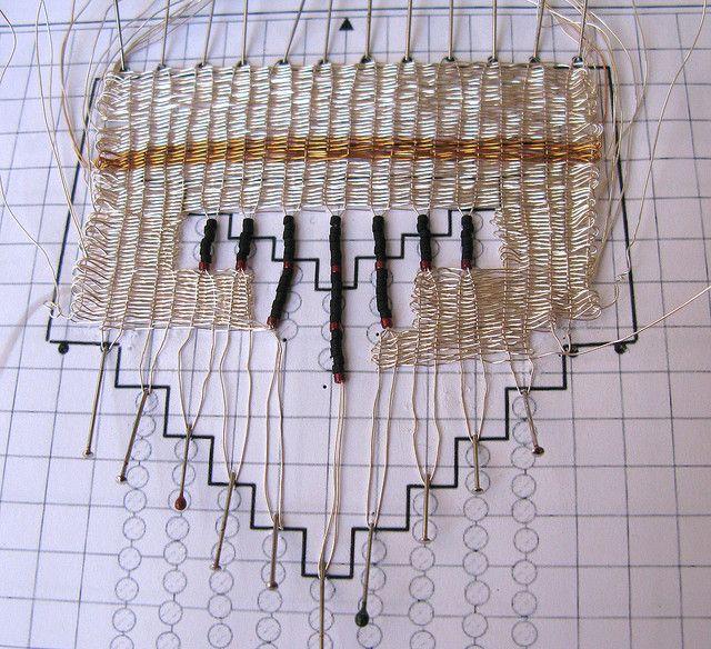 Pin weaving   Pin weaving sample in process   Flickr - Photo Sharing!
