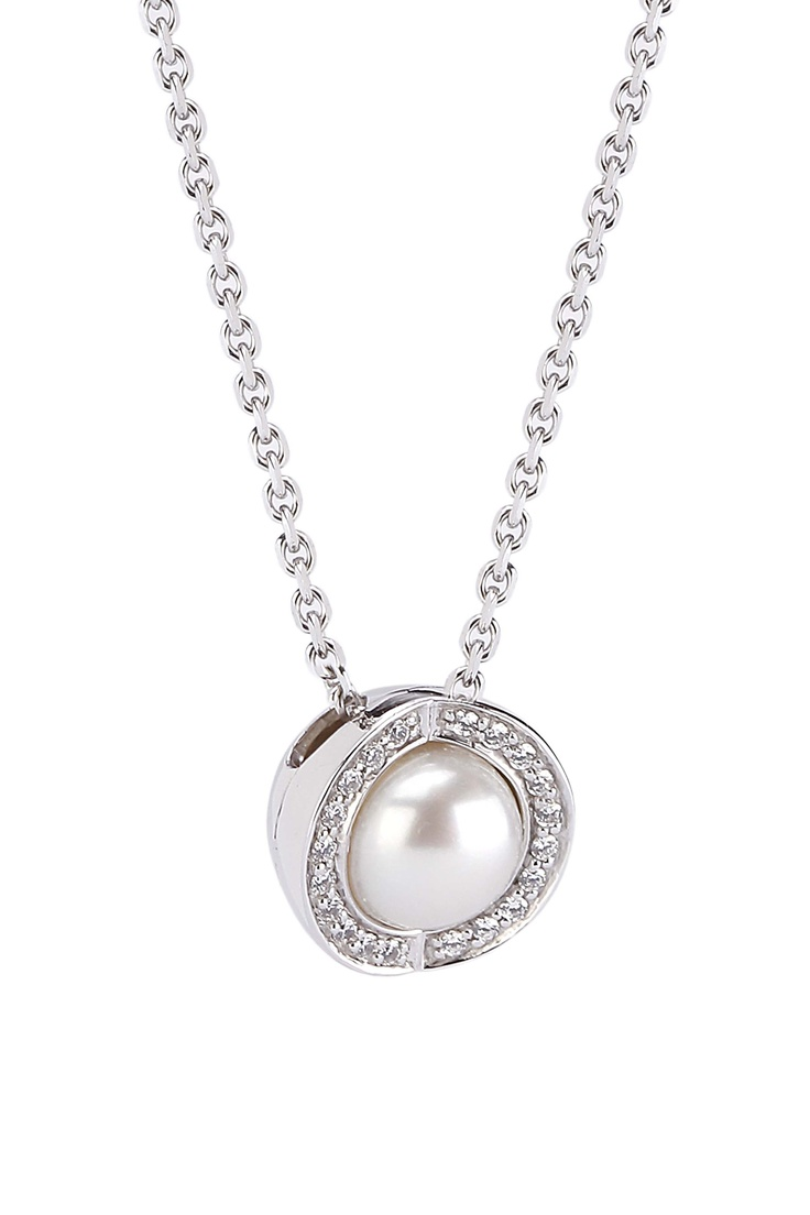 Joy de la Luz | Necklace cz silver/pearl  €90,00