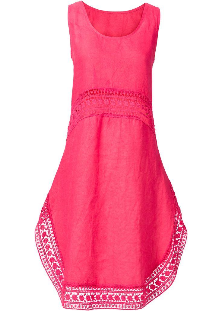 Beställ Klänning med linneandel och spets pink - RAINBOW nu från 359.- kr i online-butiken på bonprix.se Sommaren kan komma! Snygg klänning av hög kvalitet ...