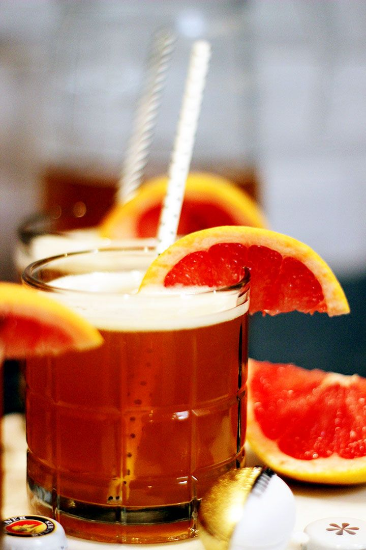 The Gas Station Grapefruit Shandy    The perfect cocktail for tailgating, or when you can't find a liquor store nearby! All ingredients can be found a the gas station!