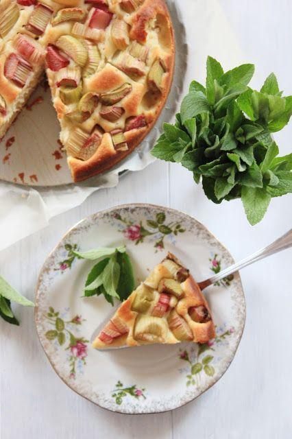Ciasto jogurtowe z rabarbarem   Tysia Gotuje blog kulinarny