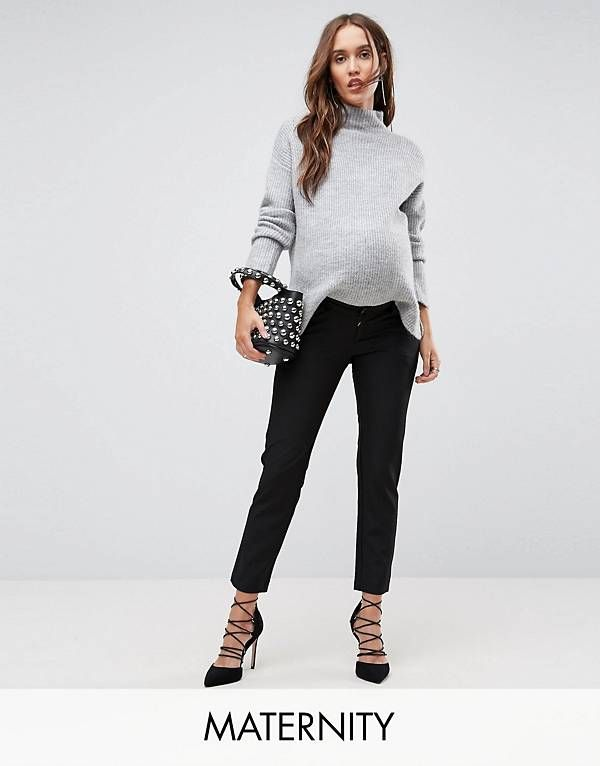 b0707389dda9a Bandia Maternity Over The Bump Tailored PANTS With Removable Bump Band