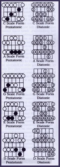 Diatonic Scales Compared with Pentatonic Scales                                                                                                                                                                                 More
