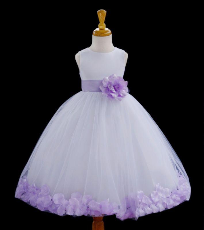 Vestido PARA NIÑAS CON FLORES BLANCAS FESTIVIDADES BODA DAMA DE HONOR BAILE FIESTA 12-18M 2 4 6 8 10