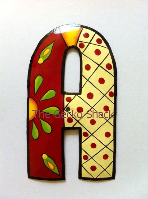 The Gecko Shack - House Number/Letter Red