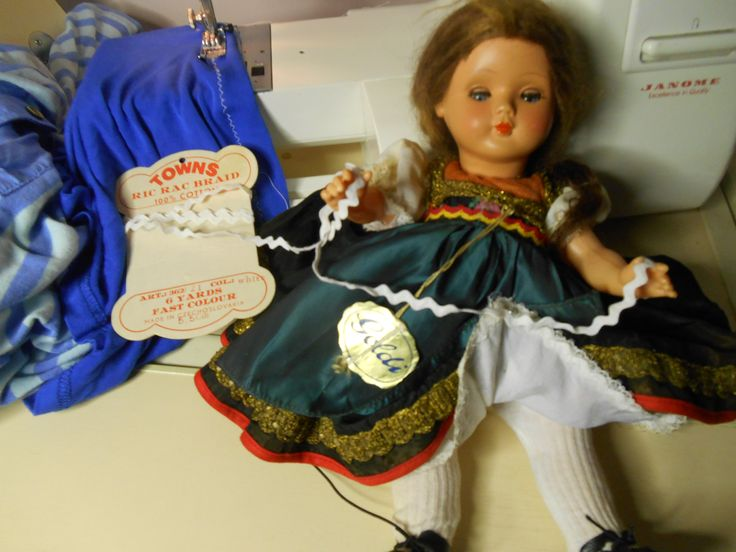 We found Goldie some bric-a-brac for her petticoat. It came from far awy just like Goldie.
