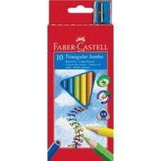 10 darabos Faber Castell Jumbo vastag háromszög alakú színes ceruza készlet ajándék hegyezővel Ft Ár 1,029