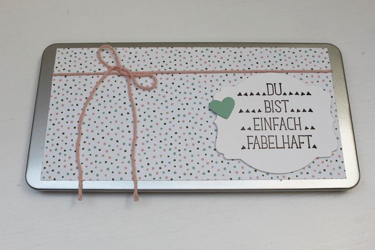 """Schokolade & Süßigkeiten - Dose Milka Schokolade """"Du bist..."""" gepunktet - ein Designerstück von Die-Fraeuleins-Krims-u-Krams bei DaWanda"""