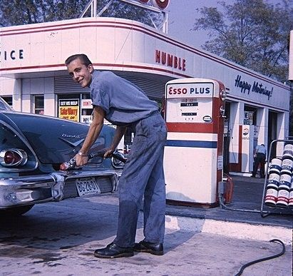 remember when a service station was a service station, they washed your windows and everything