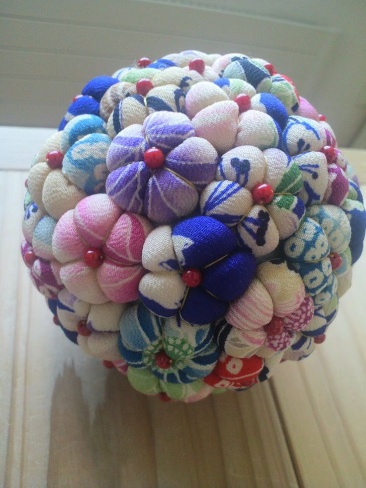 古布の花てまり の画像|こっぴのちくちくお針しごとだよん♪