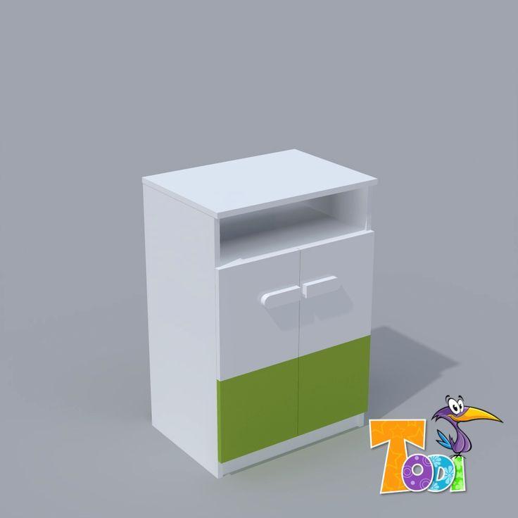 Kaméleon-fehér – 2 ajtós komód