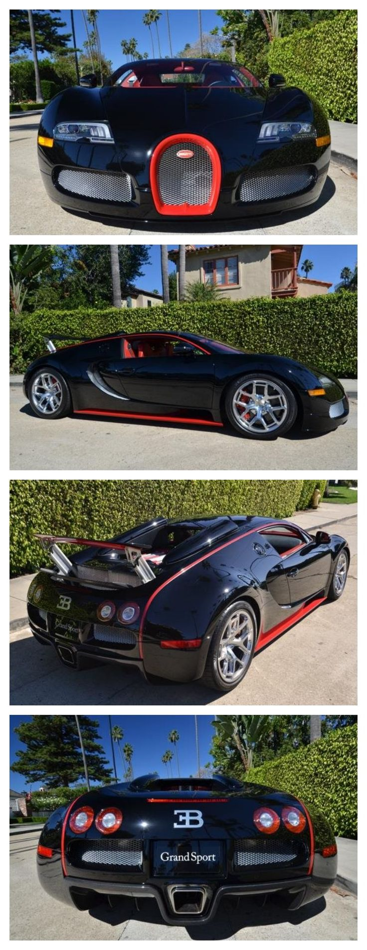 Bugatti Veyron Grandsport. 5k miles. Black with red accents #AutoAwesome