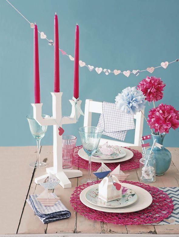 Украшения стола для романтичного ужина