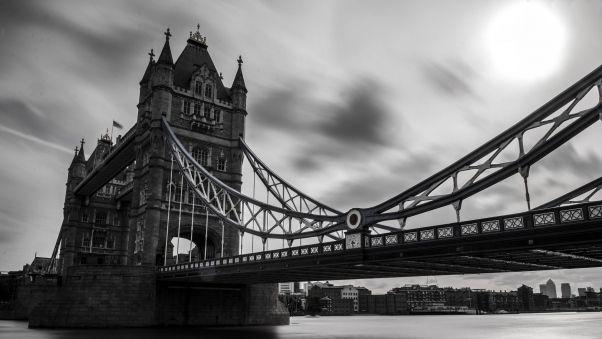 Обои великобритания, тауэрский мост, лондон, чб   Лондон ...