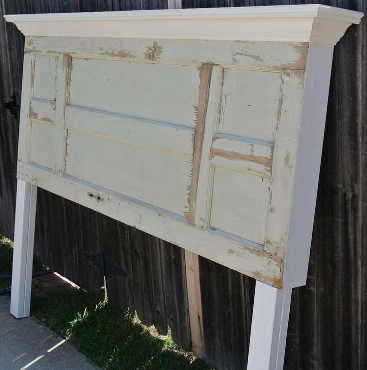 Rare Left / Right Symmetrical 6 Panel Door Headboard
