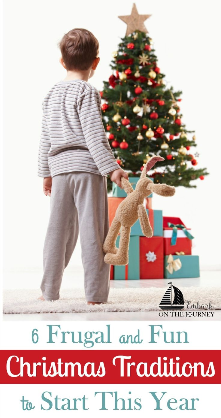 We look forward to the Christmas season all year long. This short season holds some of our favorite memories. We have six fun and frugal Christmas traditions that you could start this year with your own family. Come check them out. | embarkonthejourney.com