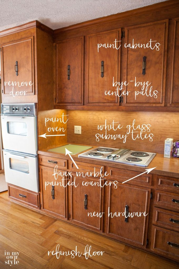 Kitchen Makeover Plans: Bye-Bye 1970\'s | Budget kitchen ...