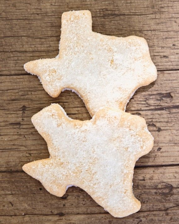Guests took home Lone Star State–shaped sugar cookies from the bride's favorite Houston bakery, Moeller's.