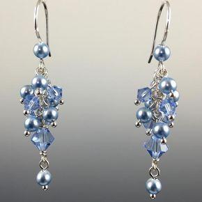 Swarovski Crystal & Sterling Silver Cluster Earrings - Steven James Jewelry