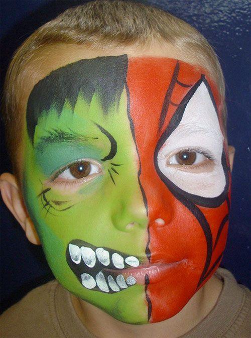 Trucco da mostro per Halloween con doppio volto