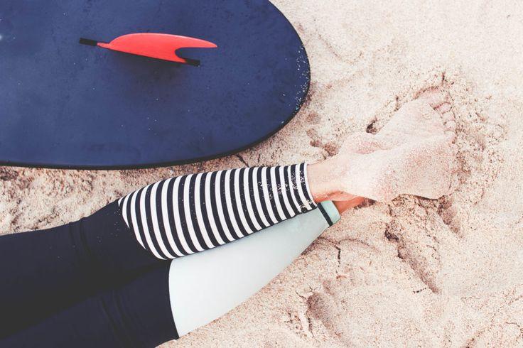 SIRENA SURF LEGGINGS blk wht striped/mint gloss – ZEALOUS CLOTHING EST. 2010