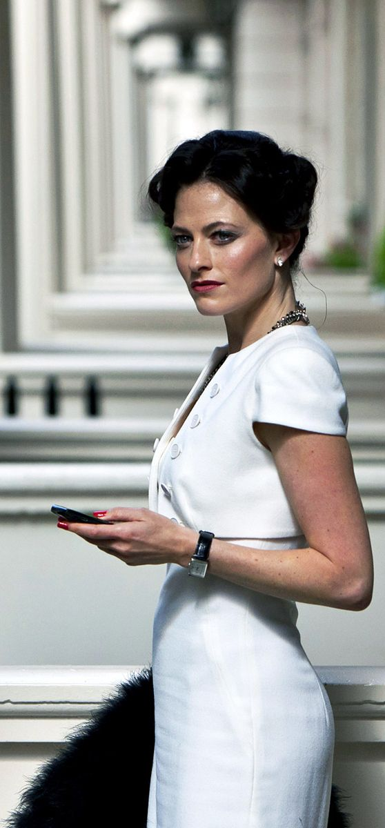 Gosh, even the women in Britain have glorious cheekbones. Irene Adler aka The Woman.