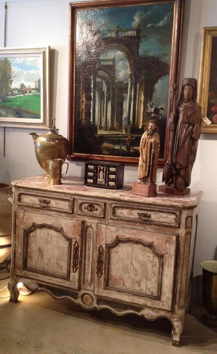 French Provincial Furniture | French Provincial Painted Buffet At 1stdibs