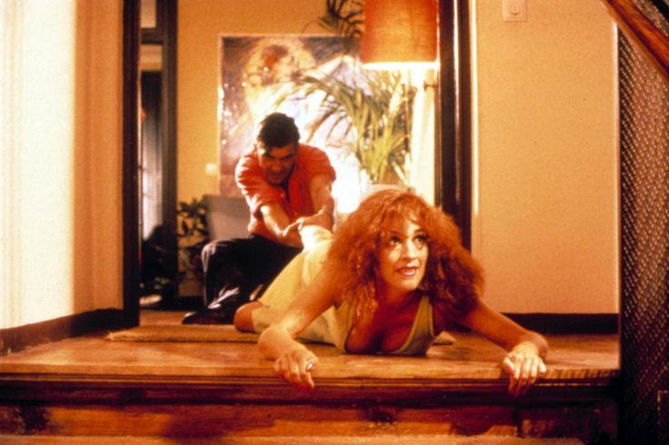 Antonio Banderas, Carmen Maura, 1987 | Essential Gay Themed Films To Watch, Law of Desire (La Ley Del Deseo) http://gay-themed-films.com/watch-law-of-desire/