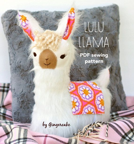 LuLu Llama Pillow PDf sewing pattern