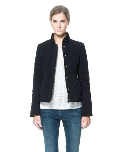 Image 2 of CONTRASTING QUILTED JACKET from Zara