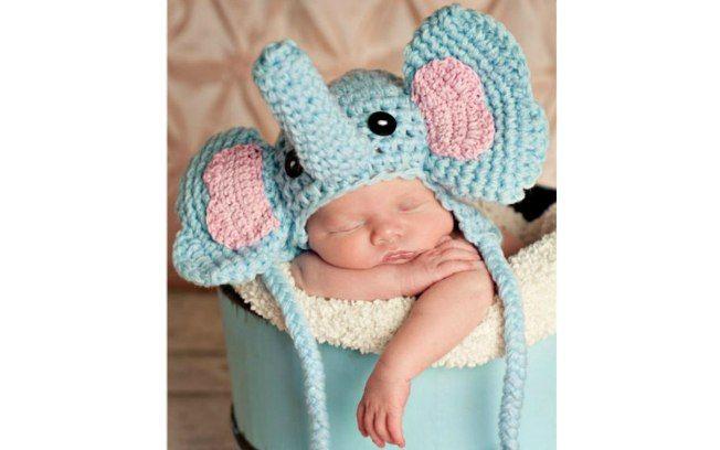 Se gostar de um modelo mais chamativo, você pode fantasiar o bebê de elefantinho. Foto: Pinterest/Trudy Nash