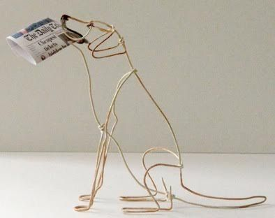 Wire dog by Bridget Baker