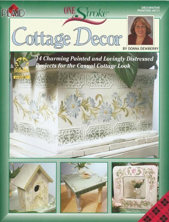 Donna Dewberry Cottage Decor One Stroke Tole Painting Craft Book