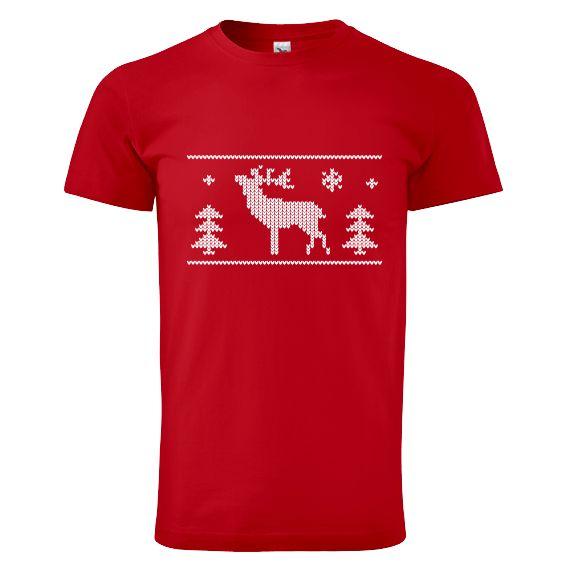 """Tip na vánoční dárek pro rodiče - tričko """"Tričko s jelenem""""."""