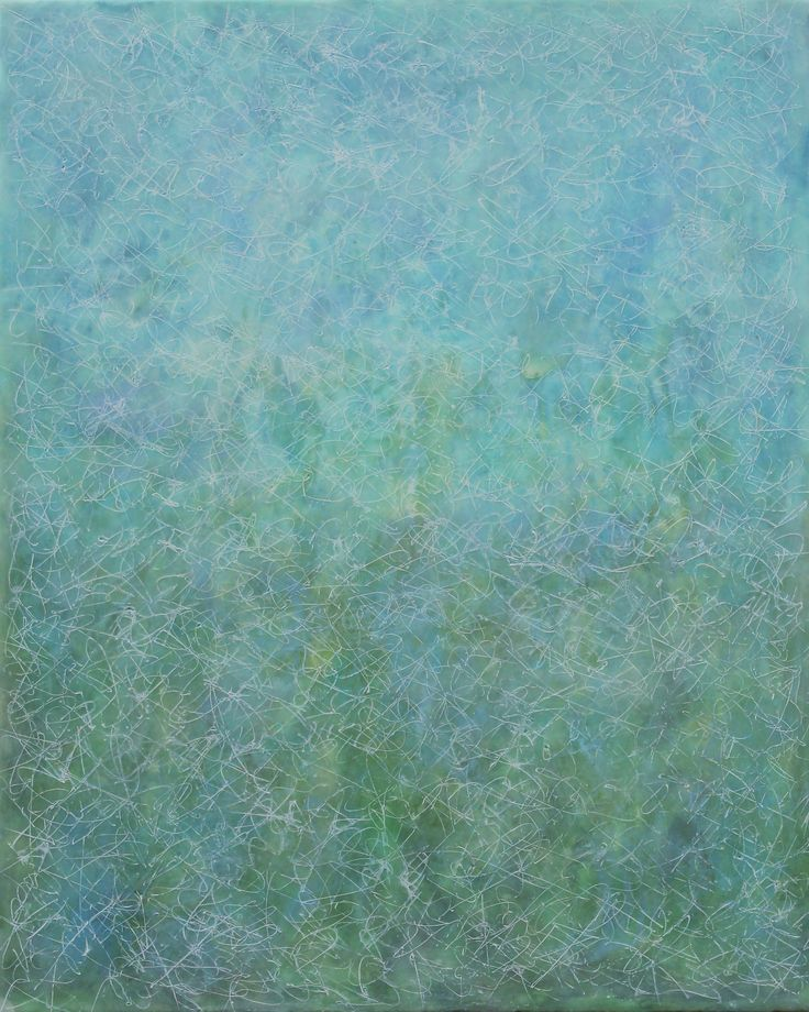 """Sea Mist"" by Patricia Dusman - 24 x 30, encaustic and oil, at the J. A. Willy Gallery in Naples, Florida."