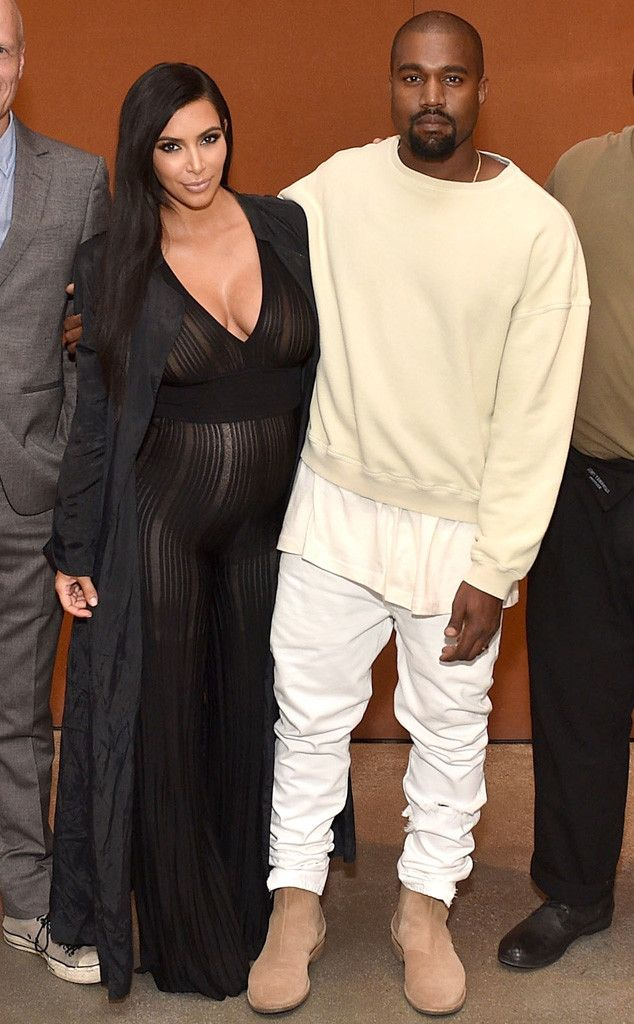 Kim Kardashian Shows Baby Bump in Sheer, Cleavage-Baring Jumpsuit—See the Photo!  Kim Kardashian West, Kayne West