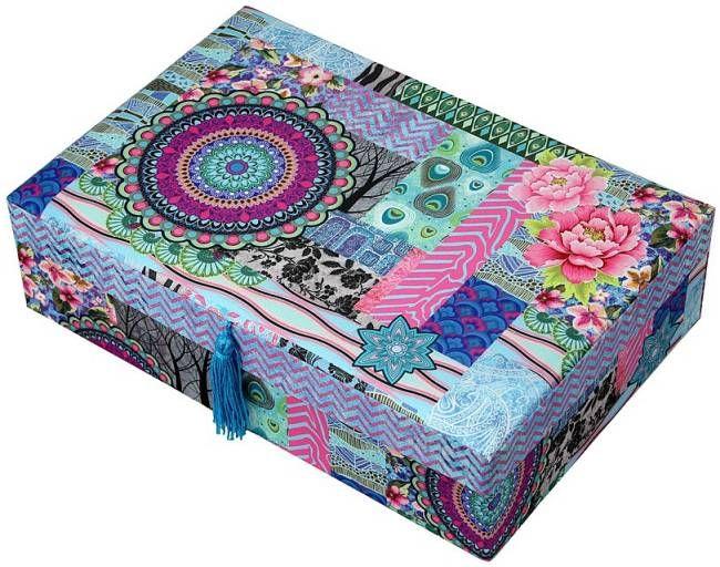 Barevná textilní šperkovnice