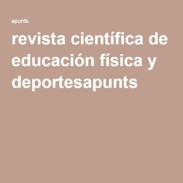 revista científica de educación física y deportesapunts