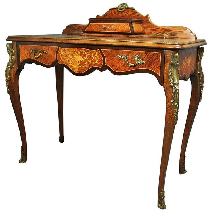 Early 20th Century, French Kingwood Writing Table   From a unique collection of antique and modern desks and writing tables at https://www.1stdibs.com/furniture/tables/desks-writing-tables/