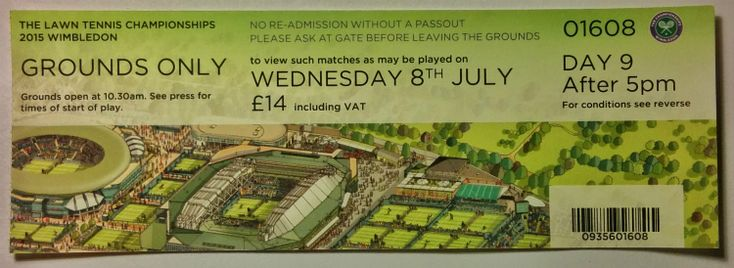 #Wimbledon 2015: entrance to the grounds after 5 pm on this day was priced at £14.