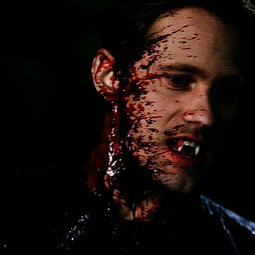 Sometimes when I have nothing to think about; I think about Eric Northman. Licking his teeth.