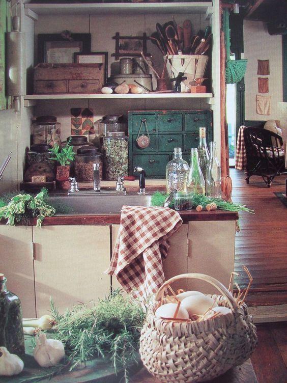 Kitchen PERFECTION!!! ---James Cramer Dean Johnson's Home Gates Farm Prim Decorating Book   eBay: